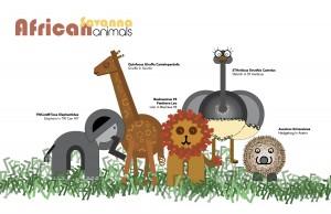 African Savanna Animals Illustrations